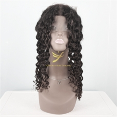 JiFanYao Hot Selling 100% Virgin Hair 360 Frontal Deep Wave