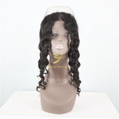 JiFanYao Hot Selling 100% Virgin Hair 360 Frontal Loose Wave