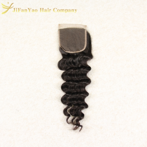 Hot sale 100% Virgin Hair 4*4 lace closure LOOSE WAVE