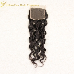 Hot sale 100% Virgin Hair 4*4 lace closure ITALIAN CURLY