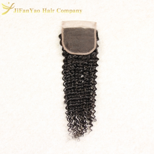 Hot sale 100% Virgin Hair 4*4 lace closure KINKY CURLY