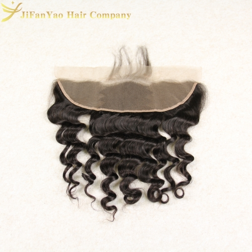JiFanYao Hot sale 100% Virgin Hair 13*4 lace Frontal LOOSE WAVE