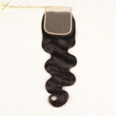 Hot sale 100% Virgin Hair 4*4 lace closure BODY WAVE