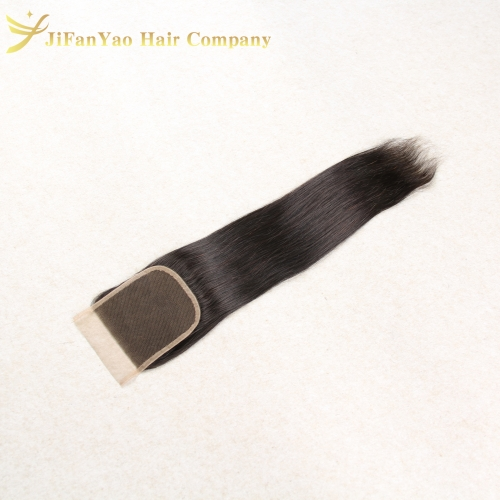 Hot sale 100% Virgin Hair 4*4 lace closure STRAIGHT