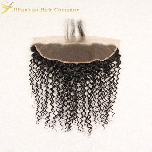 JiFanYao Hot sale 100% Virgin Hair 13*4 lace Frontal JERRY CURLY