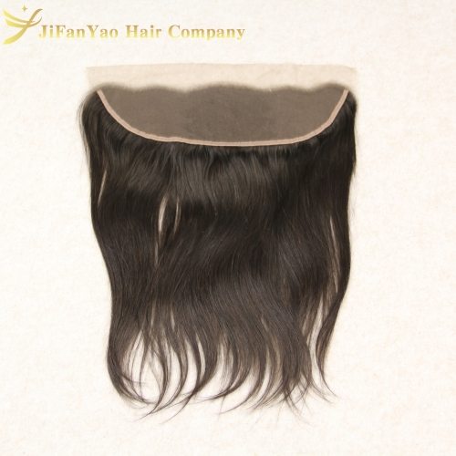 JiFanYao Hot sale 100% Virgin Hair 13*4 lace Frontal STRAIGHT