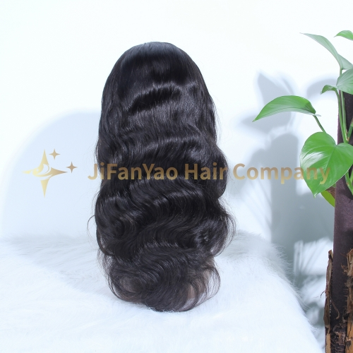 JIFANYAO HAIR HD lace wig 13*6 hd frotal lace wig 180 density body wave virgin hair wig