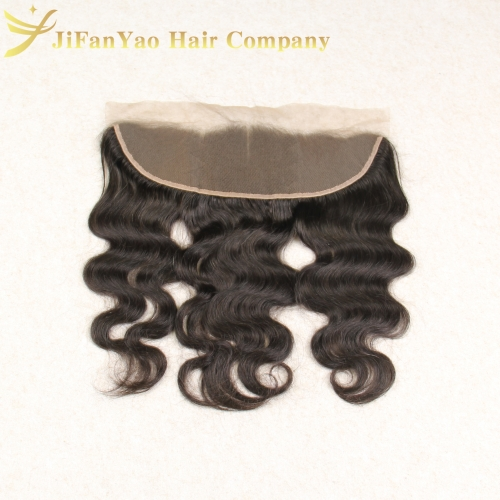JiFanYao Hot sale 100% Virgin Hair 13*4 lace Frontal BODY WAVE