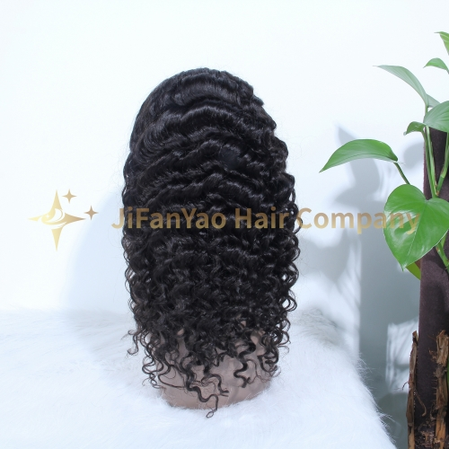 JIFANYAO HAIR HD lace wig 13*6 hd frotal lace wig 150 density deep wave virgin hair wig