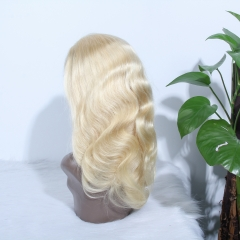 JIFANYAO HAIR 13*4 transparent lace wig 613 blond wig 180% density
