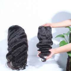 JIFANYAO HAIR Top virgin New Product 5D NANO lace 5*5 lace with pre-plucked straight virgin hair