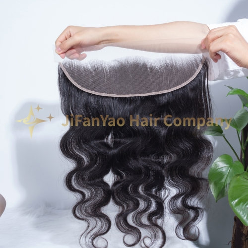 JIFANYAO HAIR TOP virgin hair 13*4 frontal transparent lace