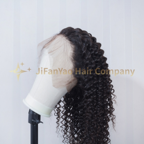 JIFANYAO HAIR 360 frontal lace wig TOP virgin hair deep wave hair