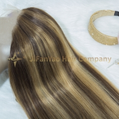 JIFANYAO HAIR highlight wig piano wig top virgin hair straight