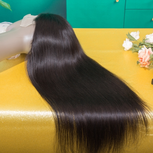 JIFANYAO HAIR 13*4 transparent frontal wig top virgin hair