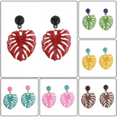 Holylove 5 Color Leaf Shape Dangle Earrings for Women Statement Jewelry Summer Beach Fashion Accessories 1 Pair in Gift Box