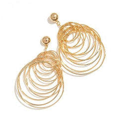 Holylove Gold Circle Sytle Statement Earring, Fashion Earring for Women Novelty Jewelry with Gift Box