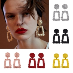Holylove 6 Color Gorgeous Drop Dangle Rectangle Statement Earrings for Women Daily Wedding Party Club Holiday 1 Pair with gift box