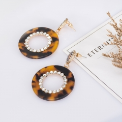 Holylove Marble Ring Geometry Puncture Drop Dangle Statement Earrings for Women Daily Wedding Party Club Holiday 1 Pair with gift box