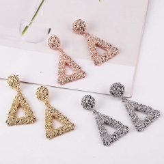 Holylove 3 Color Gorgeous Drop Dangle Geometry Triangle shape Statement Earrings for Women Daily Wedding Party Club Holiday 1 Pair with gift box