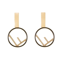 Holylove Novel Geometry Puncture Drop Dangle Statement Earrings for Women Daily Wedding Party Club Holiday 1 Pair with gift box