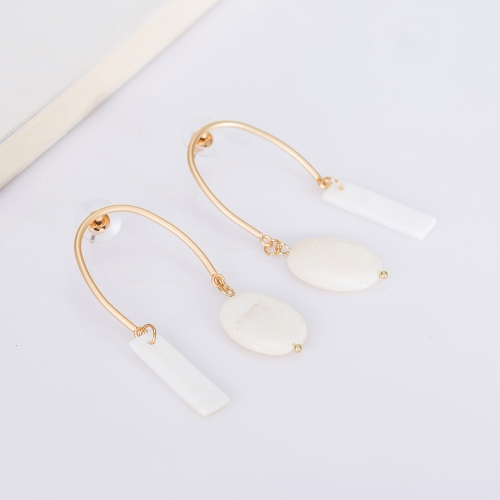 Holylove Shell Statement Earrings for Women Novel Simple Puncture Drop Dangle Party Wedding Daily Club Holiday 1 Pair with gift box