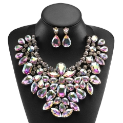 Holylove 6 Color Costume Statement Necklace for Women Jewelry Fashion Necklace 1 Set with Gift Box