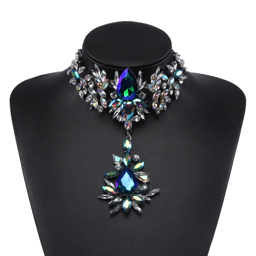 Holylove 3 Color Gorgeous Costume Necklace fit for Hollywood Film Star Feel Showgirl Wedding Statement Jewelry