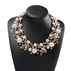 Holylove 2 Color Statement Necklace for Women Girls Pearl Necklace Novelty Jewelry with Gift Box