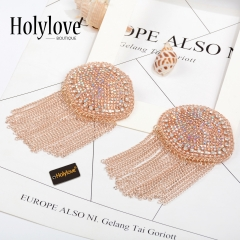 Holylove 2 Color Nipple Covers costume with Tassels for Women Lingerie Music Festival Accessories Beachwear Swim Pool