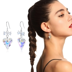 Holylove Drop Dangle Earrings Crystal from Austrian Women Jewelry 1 Pair with Gift Box Valentine Mother Day Present