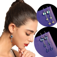 Holylove 2 Color 925 Sterling Silver Cubic Zirconia Chandelier Tassels Earrings Made with Austrian Crystals 1 Pair with Gift Box