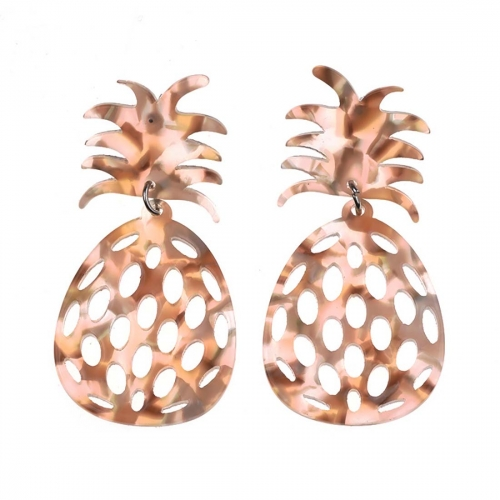 Holylove 2 Color Simple Drop Dangle Pineapple Hollow Statement Earrings for Women Daily Wedding Party Club Holiday 1 Pair with gift box