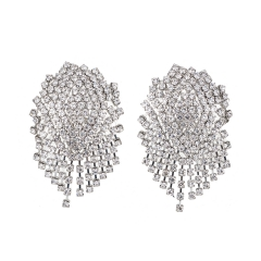 Holylove 2 Colors Gorgeous Rhinestone Statement Earrings for Women Daily Wedding Party Club Holiday 1 Pair with gift box