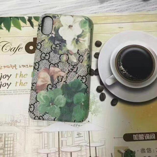 グッチ プリント iPhone8 ハードケース 花柄