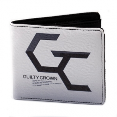 Anime Guilty Crown Logo Wallet Cosplay Student Card Holder Coin Purse