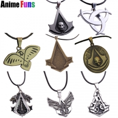 8 types Game Assassins Creed Necklace Geometric Necklace Skull Syndicate Logo Pendant Charm Fans Gift