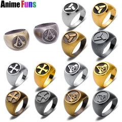 16 Style Assassins Creed Ring Ezio The Knights Templar Order Abstergo Connor Desmond Jewelry Charm Souvenir Gift