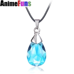 Anime Sword Art Online Blue Crystal Yui's Heart Pendant Necklace