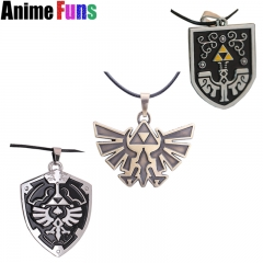 3 type Game The Legend of Zelda Ocarina Of Time Shield Logo Necklace Souvenir Charm Gift