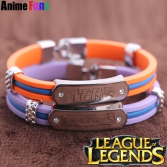 Game League of Legends Silicone Bracelet LOL Wristband Charm Gift Wholesale drop-shipping