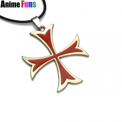 Game Assassins Creed Templar Cross Red Necklace