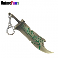 12cm Hot Game League of Legend the Exile Riven Weapon Model Keychain