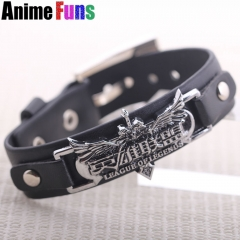 Game LOL League of Legends Leather Bracelet Logo Punk PU Wristband