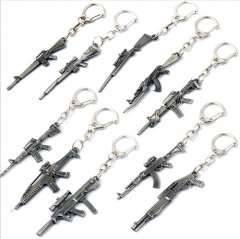 10 type Hot Game Cross Fire CS Go Weapon AK47 Gun Keychains