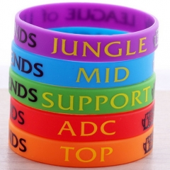 Game LOL League of Legends Dota Silicone Bracelet ADC Jungle Support Mid Top Dota2 For Team
