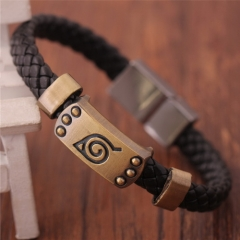 Hot Anime Naruto Braid Leather Bracelets