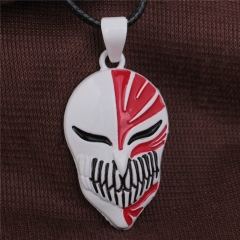 Hot Anime BLEACH Necklace KUROSAKI IGHIGO Bankai Hollow Mask Pendant Necklace