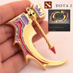 Game DOTA 2 Broken Bone Hammer Weapon Metal Keychains Gold Skull keychain