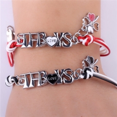 2 pcs/pack 10 type Star TFBOYS family heart cross pendant Bracelet